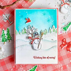 Papertrey Ink & The Foiled Fox Winter Magic Snowman Die class=