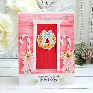 Papertrey Ink Holiday Door Decor Die class=