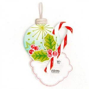 Papertrey Ink Ornament Greetings Die class=