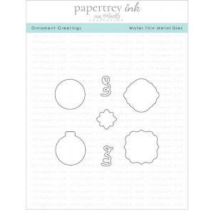 Papertrey Ink Ornament Greetings Die
