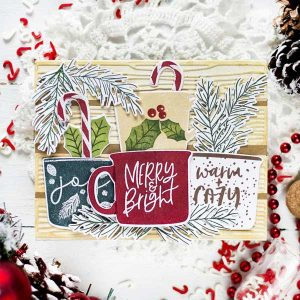 "Papertrey Ink Festive Mugs Die <span style=""color:red;"">Reserve – more on the way</span> class="