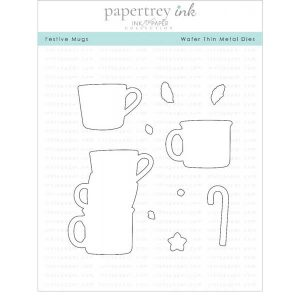 "Papertrey Ink Festive Mugs Die <span style=""color:red;"">Reserve – more on the way</span>"