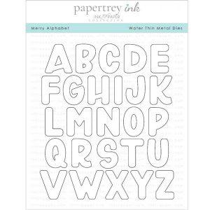Papertrey Ink Merry Alphabet Die