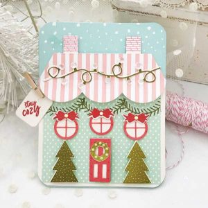 Papertrey Ink Tent Style Packaging: Holiday House Die class=