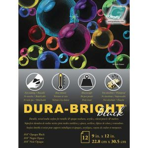 "Grafix Dura-Bright Opaque Black Pad .010"" Pad 9""X12"""