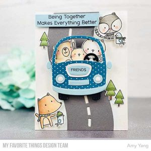 "My Favorite Things Road Trippin' Paper Pad - 6"" x 6"" class="