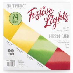 "Tonic Studios Festive Lights Mirror Card - 6"" x 6"""