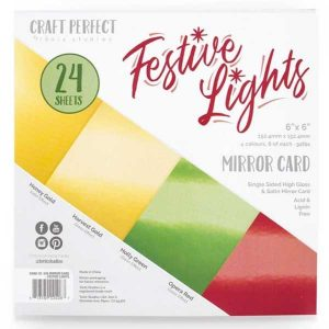 "Tonic Studios Festive Lights Mirror Card - 6"" x 6"""
