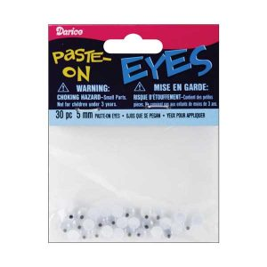 Darice Paste-On Wiggle Eyes 5mm 30/Pkg