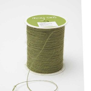 May Arts Burlap String – Sage/ 3yds