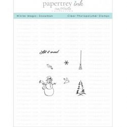 Papertrey Ink & The Foiled Fox Winter Magic: Snowman Mini Stamp Set