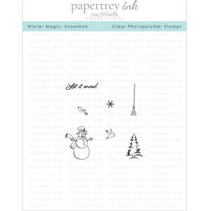 Papertrey Ink & The Foiled Fox Winter Magic: Snowman Mini Stamp Set