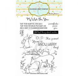 Colorado Craft Company Snow Happy Stamp