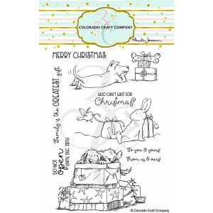 Colorado Craft Company Anita Jeram~Christmas Presents Stamp Set