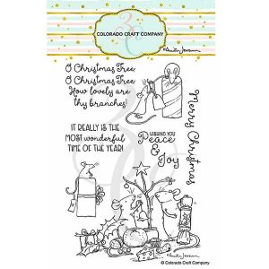 Colorado Craft Company Anita Jeram~Wonderful Time Stamp Set