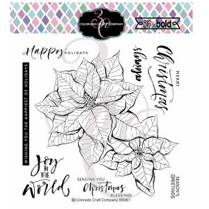 Colorado Craft Company Big & Bold Poinsettia Blessings