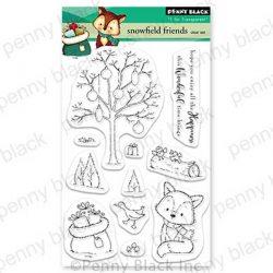 Penny Black Snowfield Friends Stamp Set