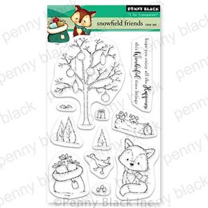 Penny Black Snowfield Friends Stamp Set