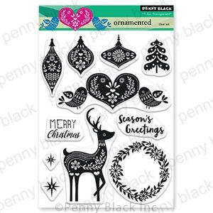 Penny Black Ornamented Stamp Set