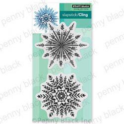 Penny Black Snowfall Slapstick/Cling Stamp