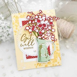 Papertrey Ink Just Sentiments: Get Well Mini Stamp class=