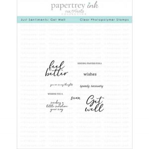 Papertrey Ink Just Sentiments: Get Well Mini Stamp