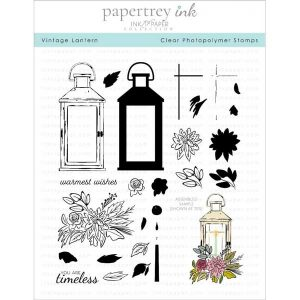 Papertrey Ink Vintage Lantern Stamp