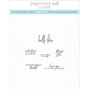 Papertrey Ink Just Sentiments: Love Mini Stamp