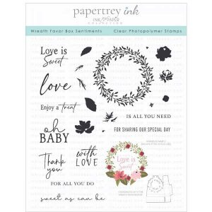 Papertrey Ink Wreath Favor Box Sentiments Stamp Set