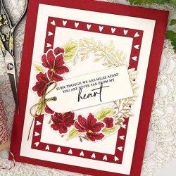Papertrey Ink Wreath Favor Box Sentiments Stamp Set