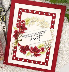 Papertrey Ink Wreath Favor Box Sentiments Stamp Set class=