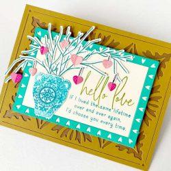 Papertrey Ink Inside Greeting: Love stamp set