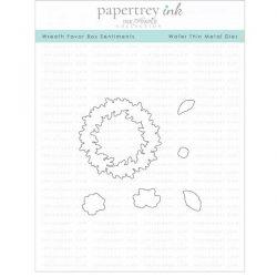 Papertrey Ink Wreath Favor Box Sentiments Die Set