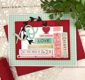 Papertrey Ink XO Heart Frames class=