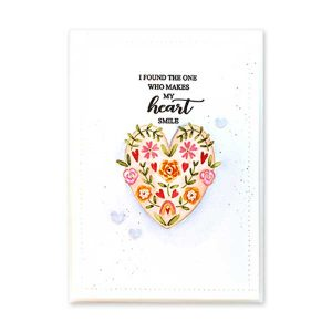 Penny Black Floral Heart Stamp class=