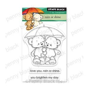 Penny Black Rain or Shine Stamp