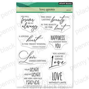Penny Black Love Quotes Stamp