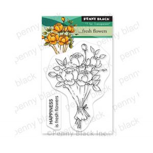 Penny Black Fresh Flowers Stamp