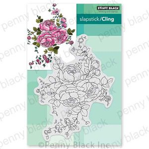 Penny Black Rose Dance Slapstick/Cling Stamp