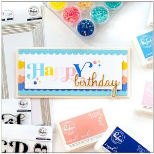Pinkfresh Studio Lea's Ornate Uppercase Stamp Set class=