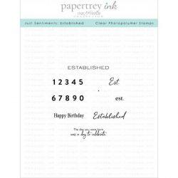 Papertrey Ink Just Sentiments: Established Stamp
