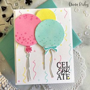 Papertrey Ink Big Balloon Sentiments Stamp class=