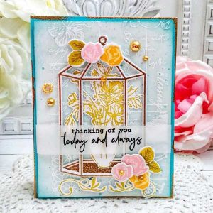 Papertrey Ink Vintage Flair Print Stamp class=