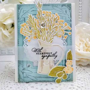 Papertrey Ink Antique Wishes Stamp class=
