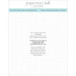 Papertrey Ink Inside Greetings: Established Stamp