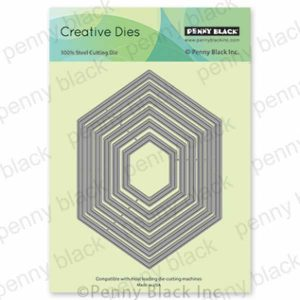 Penny Black Hexagon Frames Creative Dies