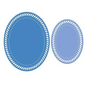 Pinkfresh Studio Essentials Braided Oval Dies class=