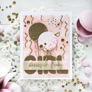 Papertrey Ink Big Balloon Stencil Collection: Dots class=