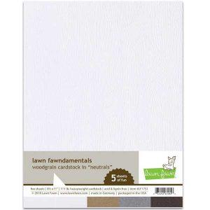 Lawn Fawn Woodgrain Cardstock - White