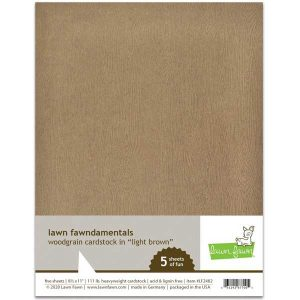 Lawn Fawn Woodgrain Card Stock - Light Brown